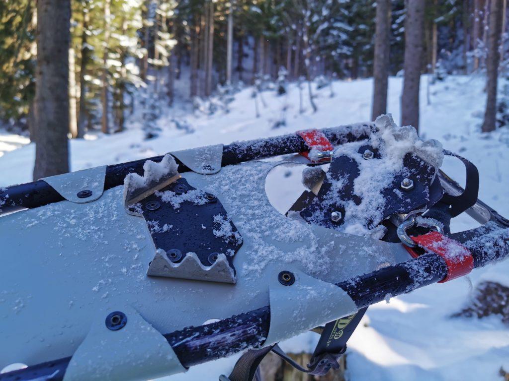 Schneeschuhe Alurahmen - relativ wenige Zacken geben halt