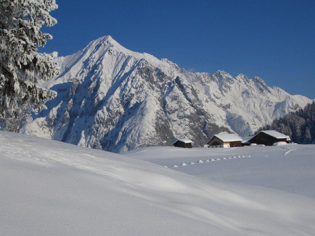 Schneeschuhwandern Tirol - zur Walderalm
